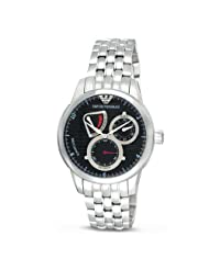 Emporio Armani Men's AR4605 Automatic, Black Dial with Stainless Steel Link Bracelet Watch