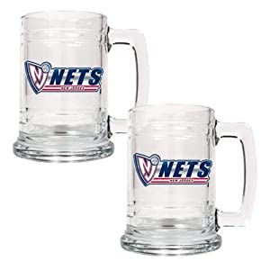 NBA Two Piece 15-Ounce Glass Tankard Set by Great American Products