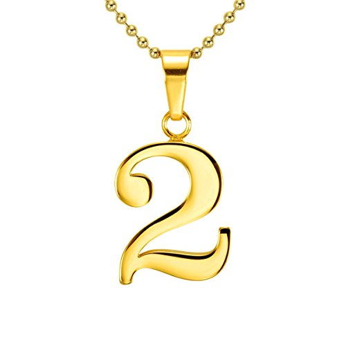 Hacool 18k gold plated lucky number 0 to 9 character for True frequency jewelry reviews
