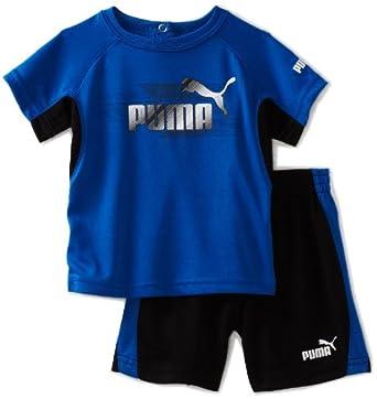 (新品)Puma – Kids Lines Performance Set彪马男宝宝蓝色运动套装$20.52