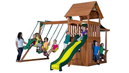 Mason Cedar Swing Set front-908844