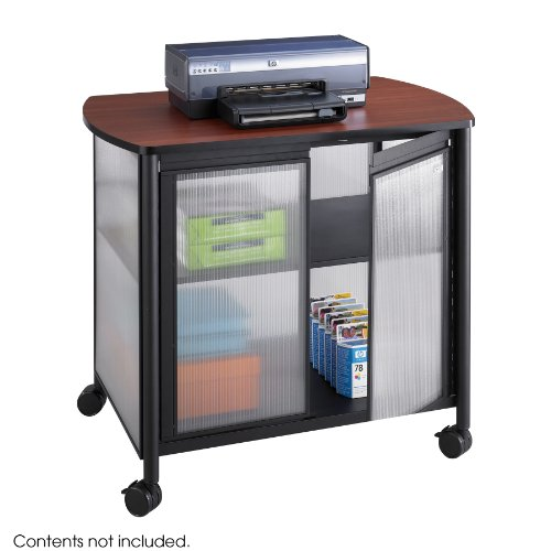 Safco Impromptu Deluxe Machine Stand with Doors, Black (1859BL)