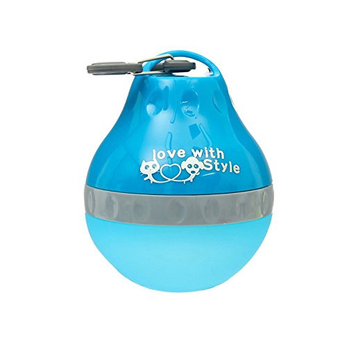 Geekercity Pet Travel Bottle Portable Silicone Folding Pets Bowl Travel Pet Canteen Outdoor Collapsing Water Feeding Bottles Kettle with Carabiner Clip for Dogs Cats (Blue-S) (Dog Water Dispenser 1 2 Gallon compare prices)