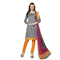 Varanga Grey Indian Dress Material With Matching Dupatta KFSNR1006