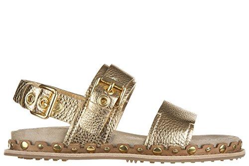 Car Shoe sandali donna in pelle originale daino oro EU 38.5 KDX69L 3OE6 F0522