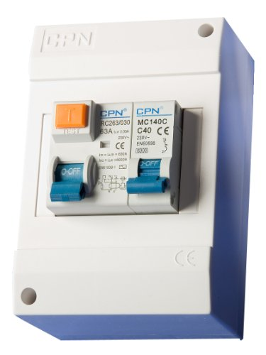 Cudis ECU04U/5 Insulated Shower Consumer Unit c/w 50A Type B MCB & 63A 30mA RCD