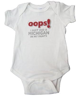 Amazon Com Ohio State Infant Quot Oops Quot Onesie 12 Months