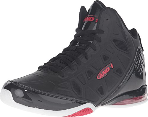 AND1 Men's Master 3 Black/Red Sneaker 13 D (M)