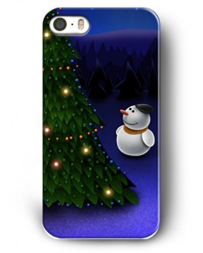Showtime Iphone Case For Iphone 4/4S Christmas Gifts Terquoise Christmas Tree Along With Snowman