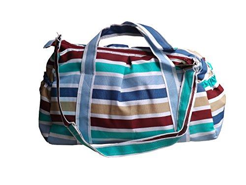 Green Breeze Imports Multi-color Striped Diaper Bag