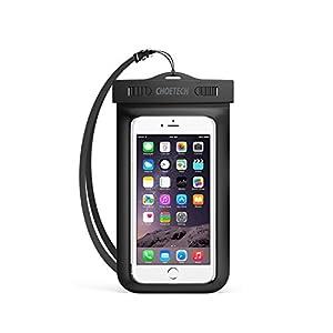 [Funda Impermeable Universal] CHOETECH Fundas Movil para Agua PVC+ABS Funda Sumergible Movil Sensible al Tacto de la caja Compatible para iPhone 6s, 6s Plus, Samsung Galaxy S7, S6 y todos los dispositivos de hasta 6 pulgadas