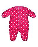 Baby Girls Fleece Sleepsuit Pink Spot Newborn