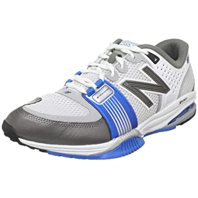 New Balance Men's MX871 Conditioning Shoe,White/Blue,7 D US
