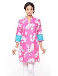 Purab Paschim Women's Cotton Printed Kurti (20681)