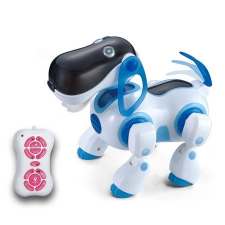Ir Rc Smart Storytelling Sing Dance Walking Talking Dialogue Robot Dog Pet Toy, Blue