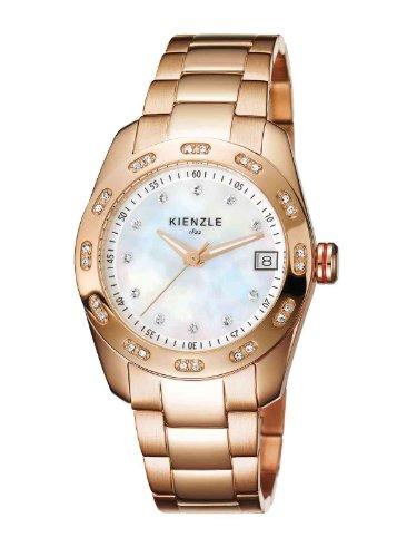 Kienzle K3022034042-00019 - Reloj analógico de cuarzo para mujer con correa de acero inoxidable, color multicolor