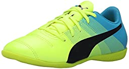 PUMA Evopower 4.3 IT JR Sneaker (Little Kid/Big Kid) , Safety Yellow/Black, 5 M US Big Kid