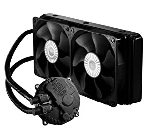 Cooler Master Seidon 240M - PC CPU Liquid Water Cooling System, All-In-One Kit with 240mm Radiator and 2 Fans