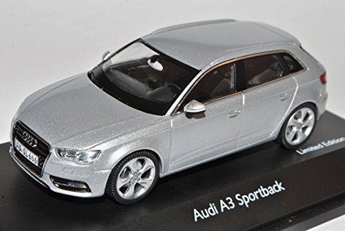Audi-A3-8V-Sportback-Eis-Silber-5-Trer-Ab-2012-143-Schuco-Modell-Auto