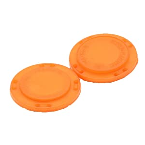 41L Magnetic Coat Buttons 26mm/1 Invisible Hidden Sewing Button Nylon with Magnets Inside for Coat Jacket Suitcase Bag Windbreaker Pajamas 6pcs (Orange) (Color: ORANGE)