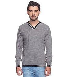 Raymond Men's Woolen Sweater (8907253090302_RMWX00468-G4_40_Grey)