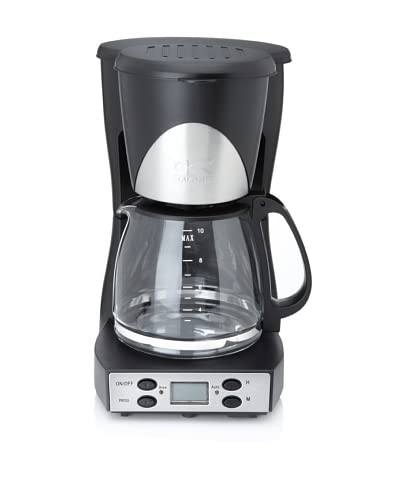 Kalorik Programmable 10-Cup Black and Stainless Steel Coffee Maker