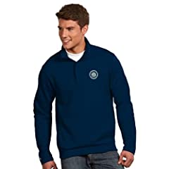 Seattle Mariners Victor Half Zip Pullover by Antigua