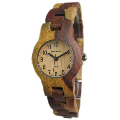 Tense Wood Watches Tense Inlaid Multicolored Natural Wood Watch Hypoallergenic Ladies L7103i