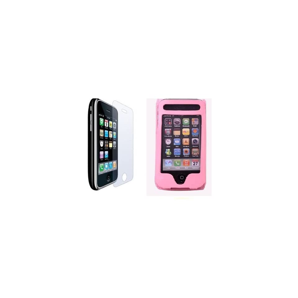 NEEWER® Pink PU Leather Flip Skin Case Cover For Apple iPhone 3G 3GS + 6x Clear Screen Protectors