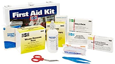 Pac-Kit 6100, 143 Piece ANSI Plus, 25 Person First Aid Kit With Steel Case by Acme United