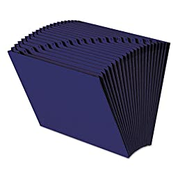SMEAD MANUFACTURING CO 70720 Heavy-Duty A-Z Open Top Accordion Expanding Files, 21 Pockets, Letter, Navy Blue