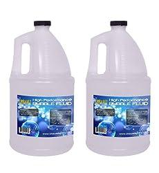 (2) Gallon Bottles of CHAUVET BJU Non-Staining Bubble Juice Fluid - BJ-U