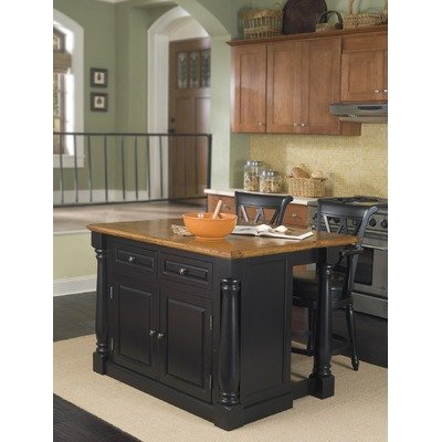 Cheap Monarch Kitchen Island with Traditional Barstools (Set of: 88-5008-94 and 88-5008-88)