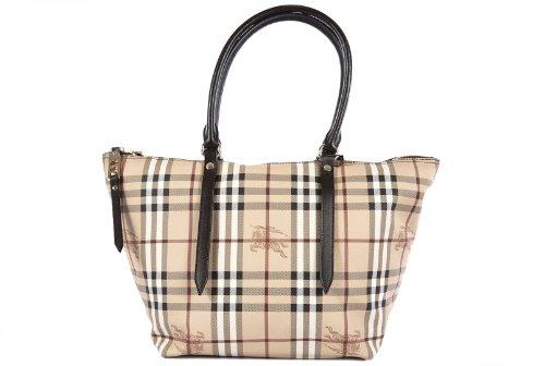 Burberry borsa donna a spalla shopping in pelle nuova salisbury tote marrone