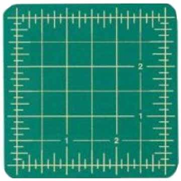 Excel Self-Healing Cutting Mat, 3-1/2 by 3-1/2-Inch, Green