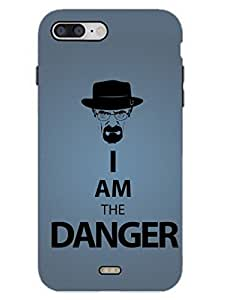 I Am The Danger - Breaking Bad Typography - Hard Back Case Cover for iPhone 7 - Superior Matte Finish - HD Printed Cases and Covers