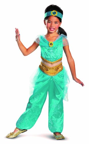 Disguise Disney's Alladin Jasmine Sparkle Deluxe Girls Costume, 4-6X image