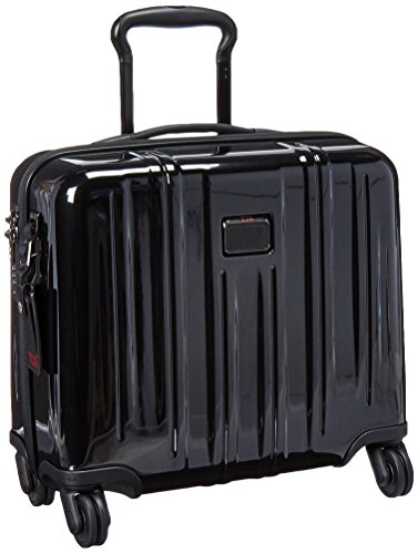 Tumi V3 Compact Carry-on 4 Wheeled Briefcase 24 L, Black - 0228004D