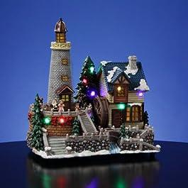Lighthouse Village dibujos de Papá Noel