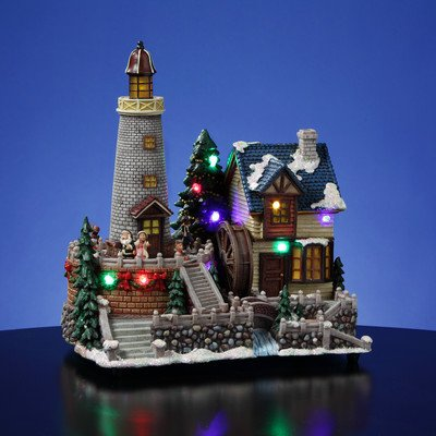 Lighthouse Village dibujos de Papá Noel