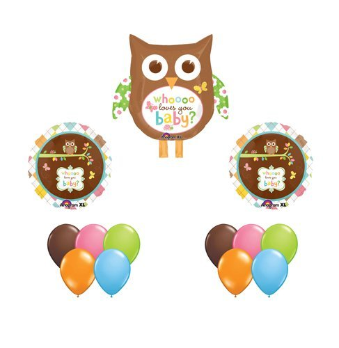 Happy Tree Owl Baby Shower Balloon Set Owls (13) Whoo Loves You Party