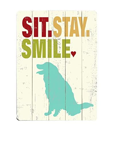 Artehouse Sit. Stay. Smile. Wood Wall Décor