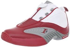Reebok Men's Answer IV Sneaker,White/Red/Flat Grey,8.5 M US
