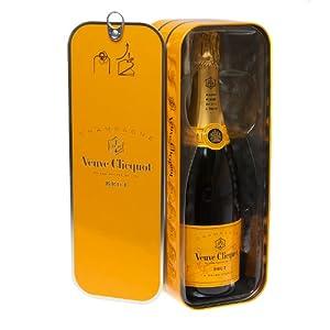 Veuve Clicquot Ponsardine Yellow Label Champagne 750ml Bottle in Sardine Style gift tin