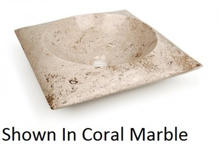Column Vessel Bathroom Sink Sink Finish: Beige Travertine