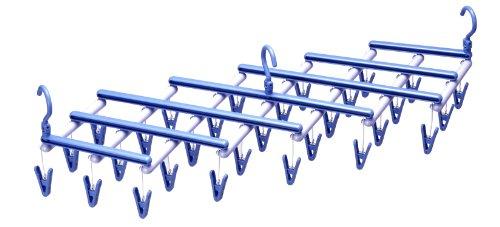 エヌケー 『丈夫な日本製 伸縮式洗濯ハンガー』 フリーピンチャー29 ライトブルー ピンチ29個付 102