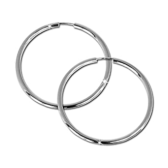 SilberDream Creole Simply 925 Sterling Silber 50mm Creolen Ohrringe SDO071