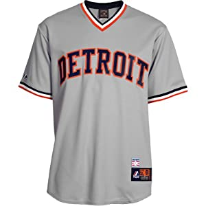 Majestic Athletic Detroit Tigers Al Kaline Cooperstown Replica Road Jersey by Majestic Athletic