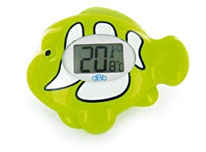 dBb Remond 341309 - Termómetro de baño electrónico con pantalla luminosa, diseño de pez, color verde