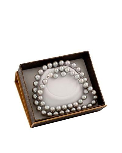Splendid 2-Piece 8-8.5mm Grey Pearl Set